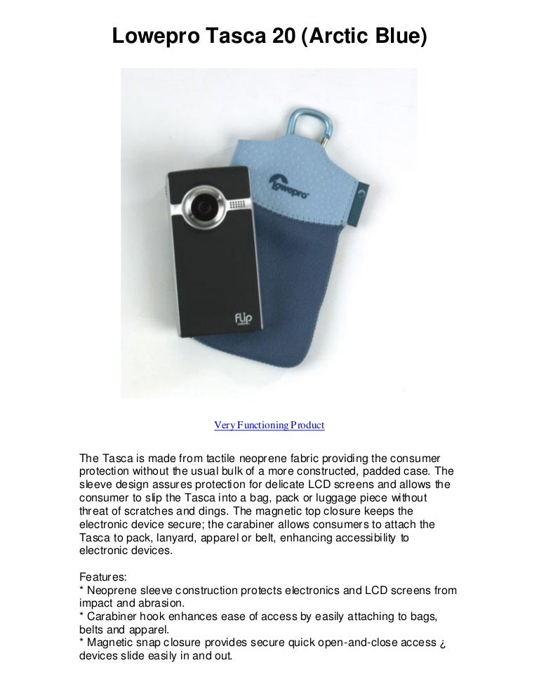 Lowepro tasca 20 arctic blue find e bays best deals!