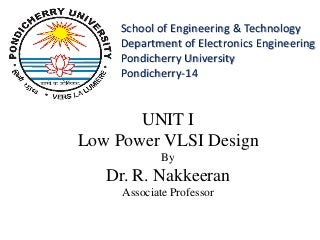 Low power vlsi design ppt