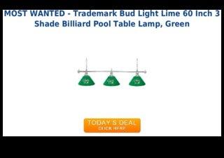 Low price trademark bud light lime 60 inch 3 shade billiard pool table lamp green