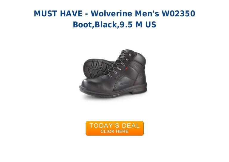 cf1f051b633 Low price wolverine mens w02350 boot black9.5 m us