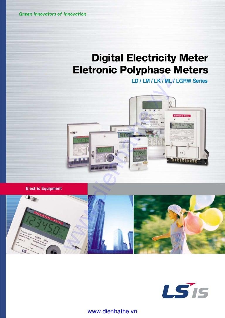 Ls catalog thiet bi tu dong digital electricity meter ... on