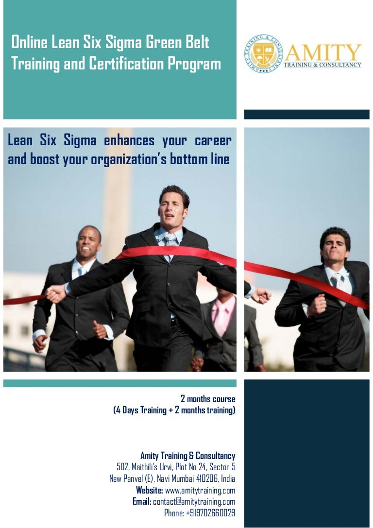 Online lean six sigma green belt training and certification program b 1betcityfo Image collections