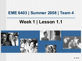 Lesson 1.1 Familiarize Yourself with Project Work, Timeline, and Group Members
