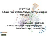 A Road map of Data Analysis for Visualization with D3.js