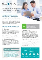 Sourcing with LinkedIn Talent Solutions: The Facts