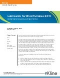 Lubricants for Wind Turbines 2011 - Brochure