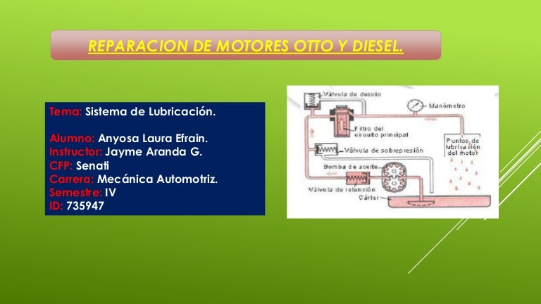 Sistema de lubricación otto