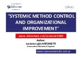 Systemic Method Control and Organizational Improvement - Luciano Lujan ANTONIETTI.