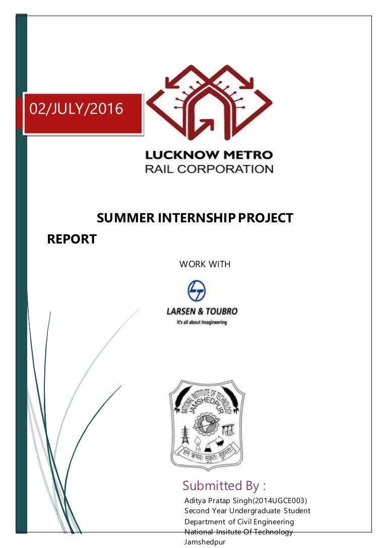 Lucknow metro rail project internship report