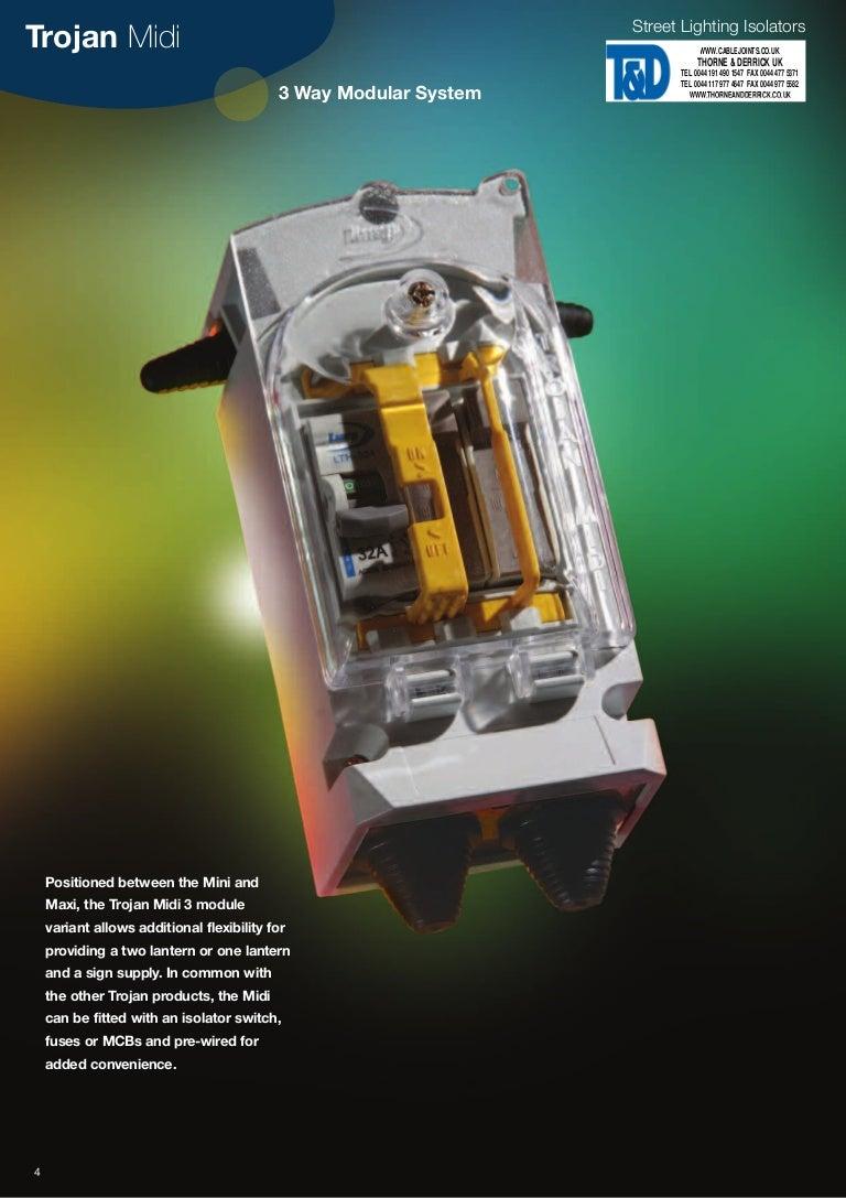 Lucy Isolators Trojan Midi Street Lighting 3 Way System 4 Isolator Switch