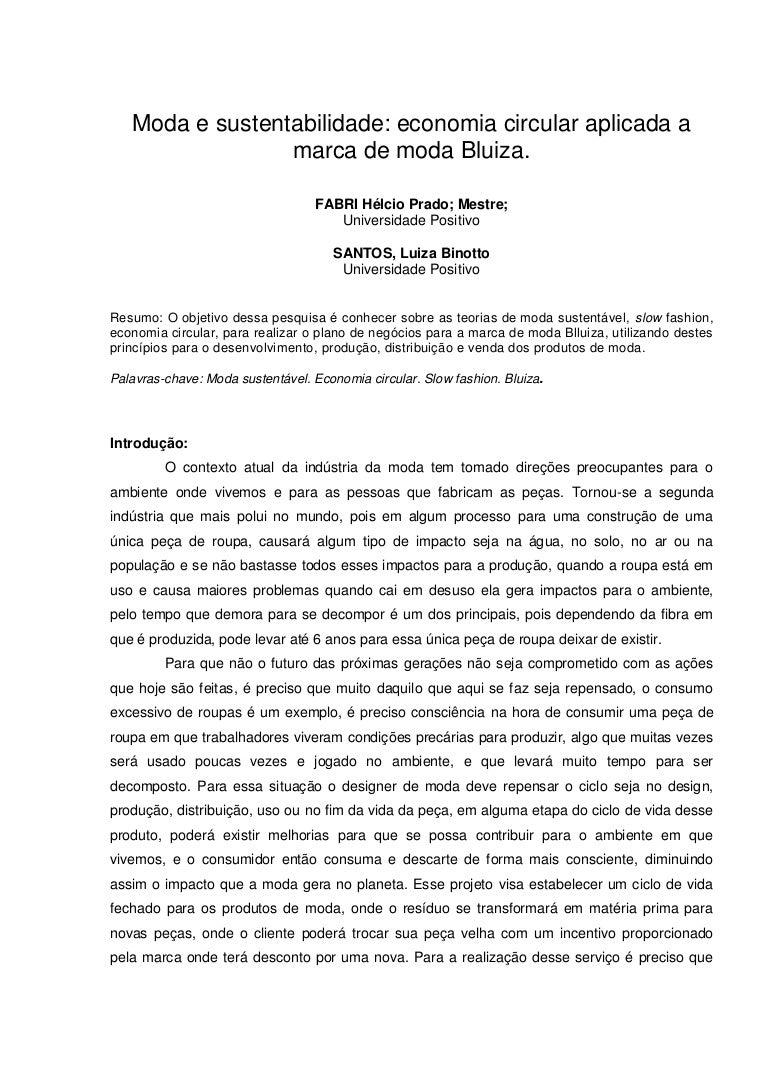 057fdfd23 Moda e sustentabilidade: economia circular aplicada a marca de moda …