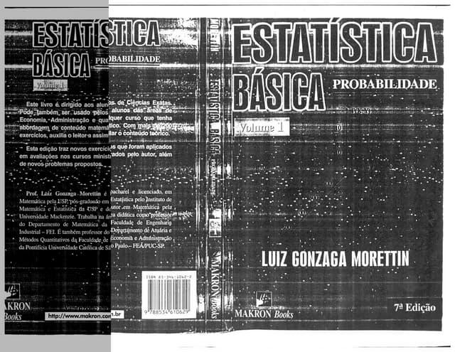 Luiz gonzaga morettin   estatistica básica