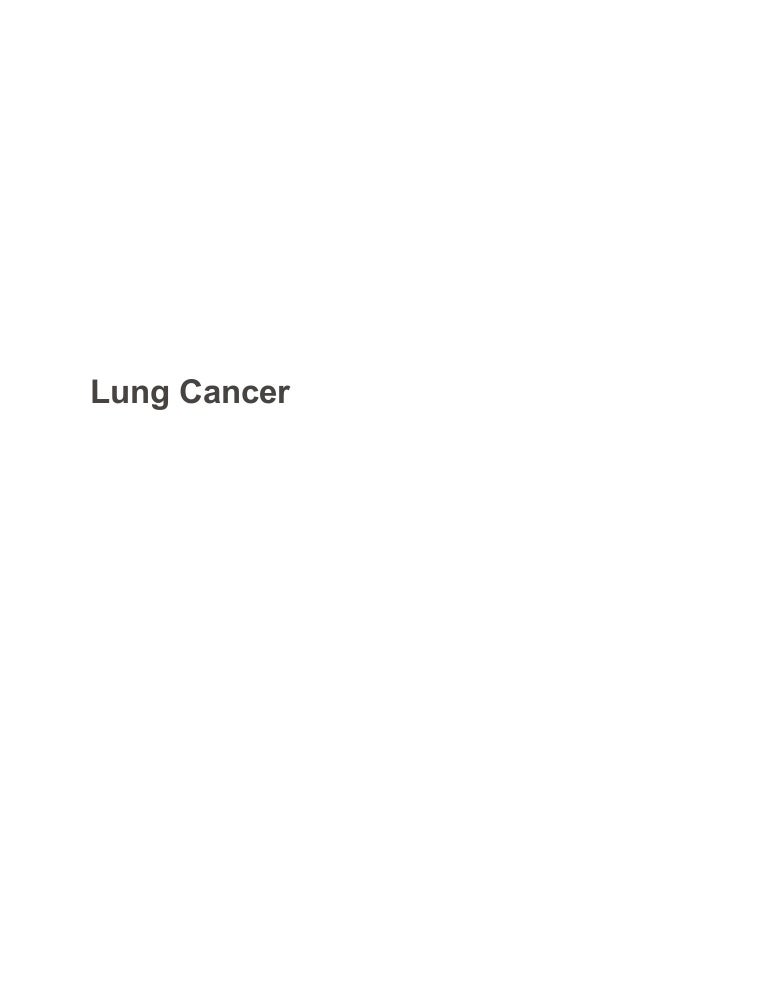 lung cancer biology sample paper essay