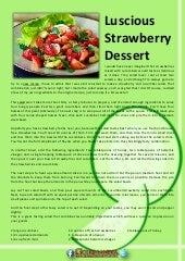 Luscious strawberry dessert