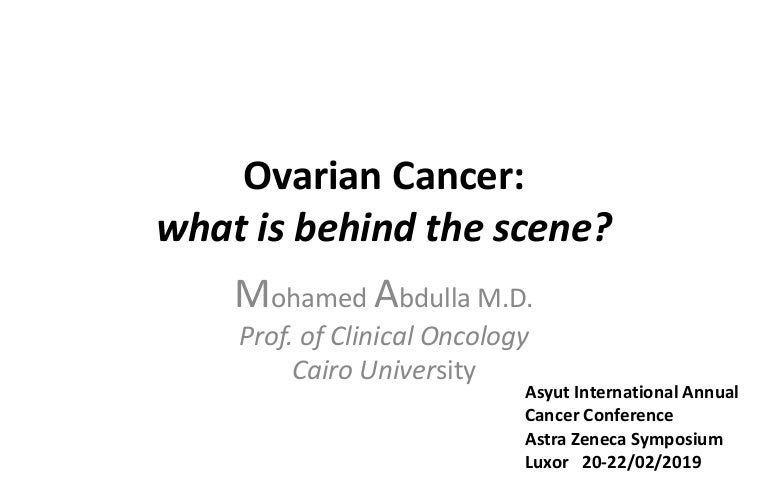 Ovarian Cancer What Is Behind The Scene