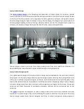Luxury Interior Design Awards
