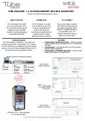 Tube Analyzer - LV 124 solution