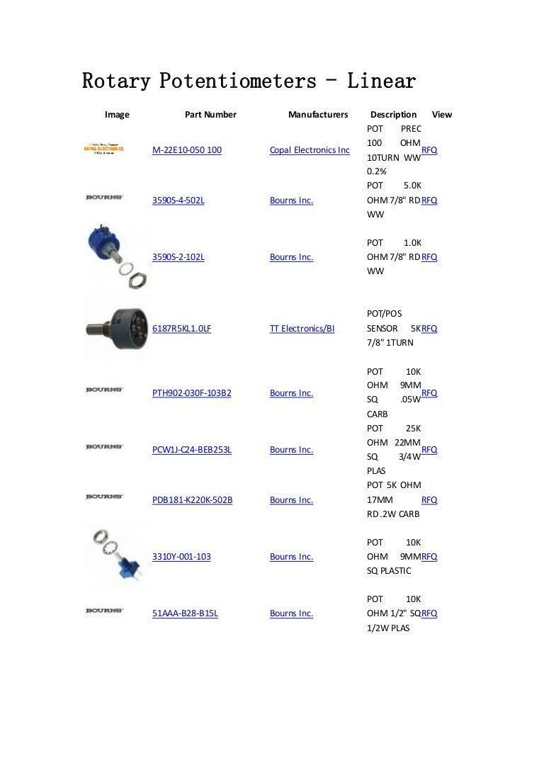 50K LINEAR P11S1V0FLSY00503KA Vishay POTENTIOMETER