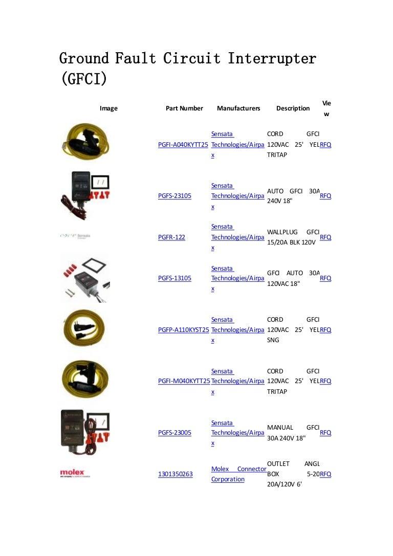 Ground Fault Circuit Interrupter Gfci Protection Compone Interruptor