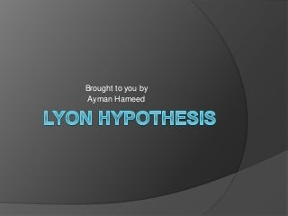 Lyon hypothesis-X-inactivation-mosaic formation