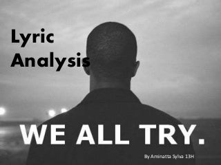 Lyric analysis of We All Try By Frank Ocean