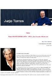 """""""Sobre María MONTESSORI (1870 – 1952) y las Escuelas Montessori"""" - Jurjo Torres Santomé"""