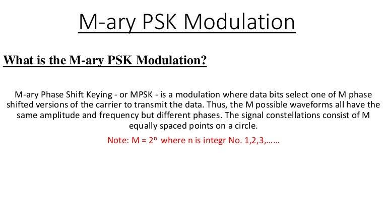 m ary psk modulation rh slideshare net Phase Modulation Amplitude Shift Keying Circuit