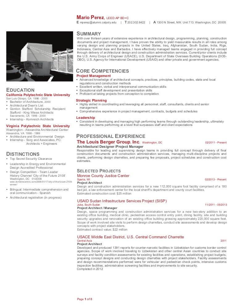 Mario Perez: Resume + Sample Projects 2013