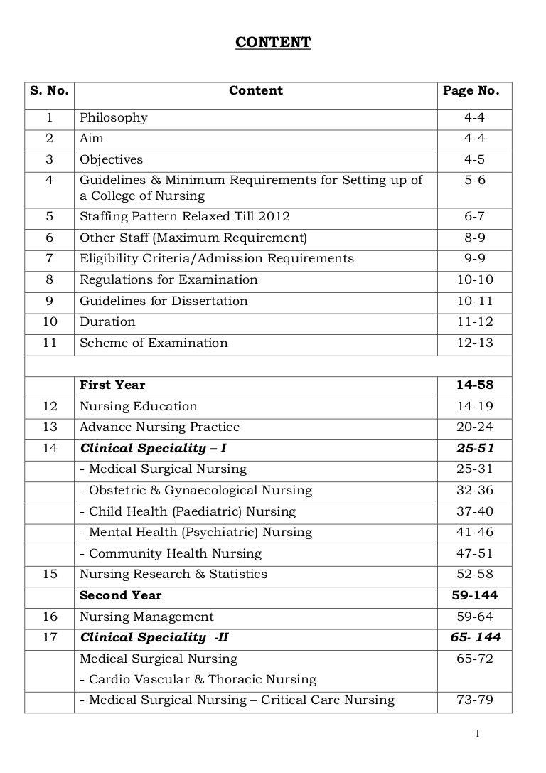 M Sc Nursing Syllabus