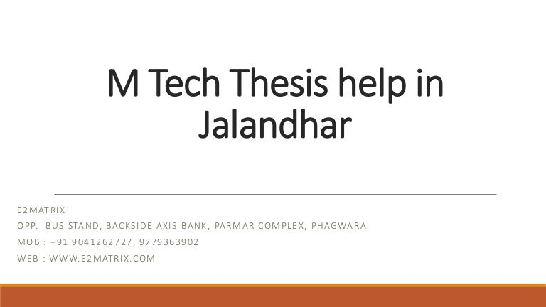 m tech thesis format for rgpv ppt