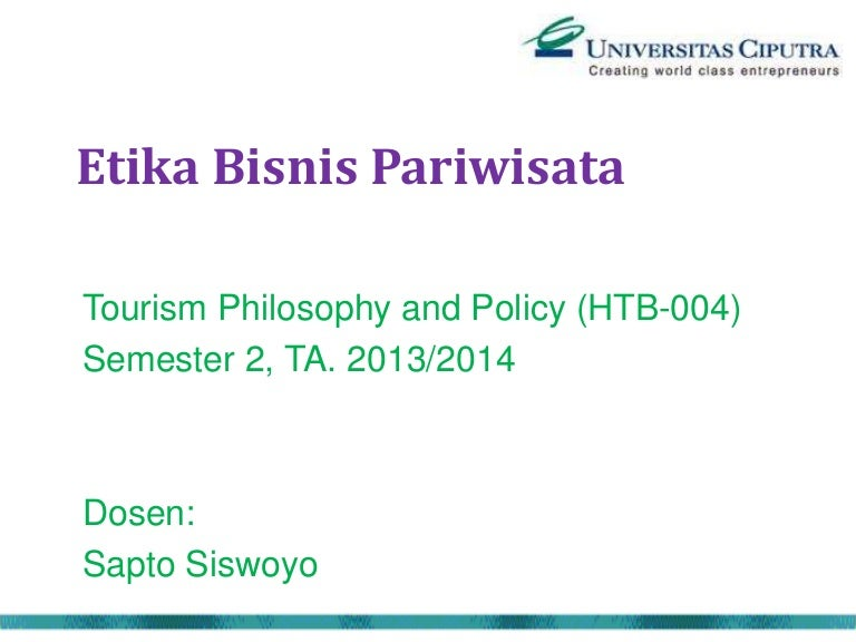 M02 Etika Bisnis Dalam Pariwisata