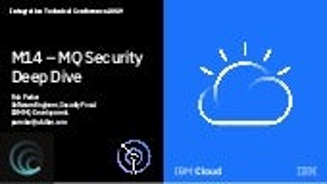 M14: MQ security deep dive ITC 2019