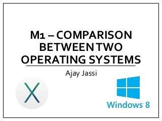 Comparison between Windows 8 and Mavericks OS X