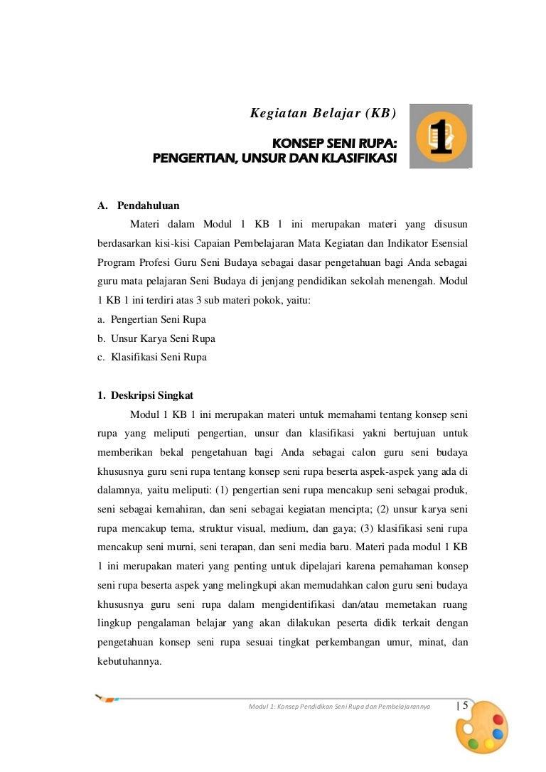 Materi 1 KB 1 Konsep Seni Rupa Pengertian Unsur Dan Klasifikasi