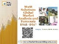 M2M Solutions: Global Market Analysis and Forecasts 2012-2017