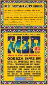 M3F Music Festival 2019 Announces Lineup