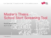 School Start Screening Tool