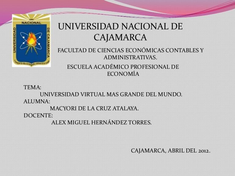 Universidad virtual mas grande del mundo