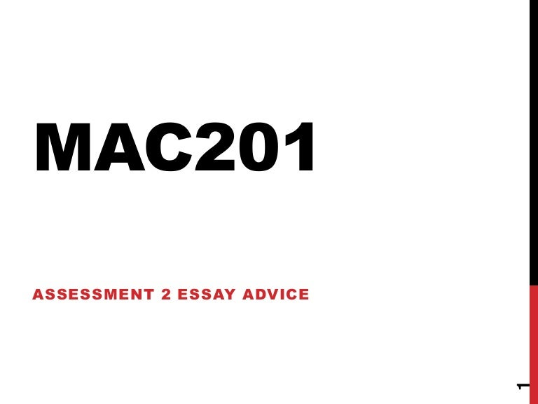 mac essay advice