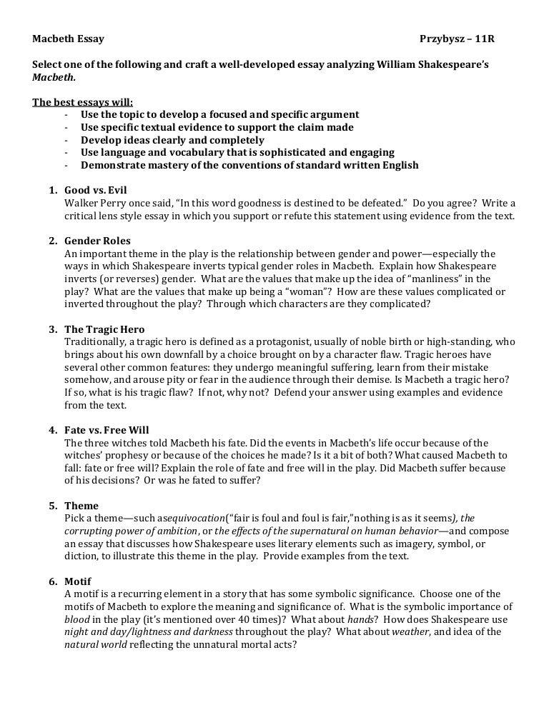 macbeth short essay