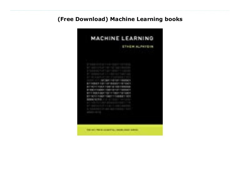 Free Download Machine Learning Books
