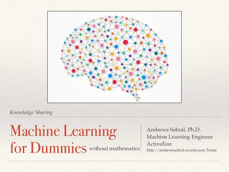 Machine learning-for-dummies-andrews-sobral-activeeon