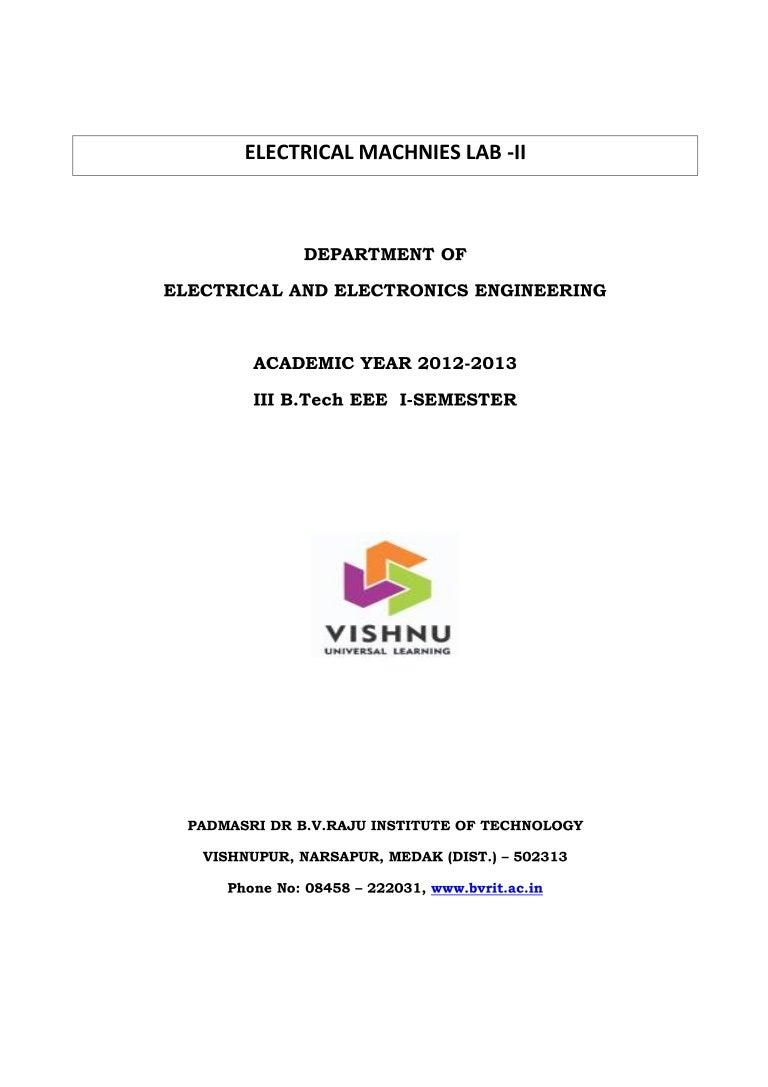 Electrical Machine 1 Lab Manual Pioneer Mosfet 50wx4 Power Ac Or Dc Rh Slideshare Net Machines 2017 Regulation