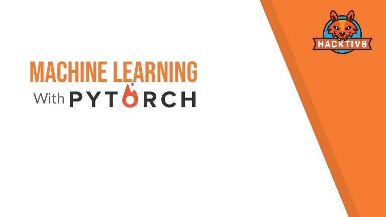 Machine learning with py torch