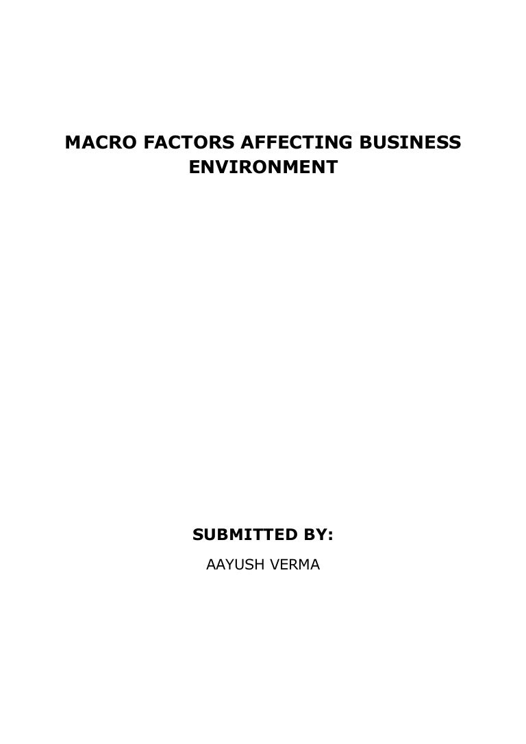 Micro Environment of Business    Factors of Micro Environment of     Key Differences
