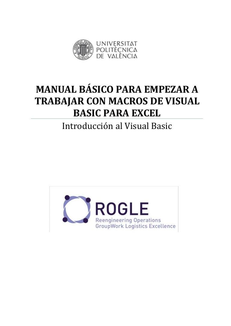 Macros visualbasicparaexcel