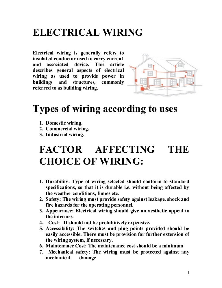 electrical wiring rh slideshare net house wiring types pdf house wiring types in india