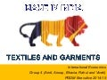 Made in india textile and garments industry
