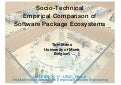 Socio-Technical Empirical Comparison of Software Package Ecosystems