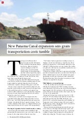New Panama Canal expansion sees grain transportation costs tumble